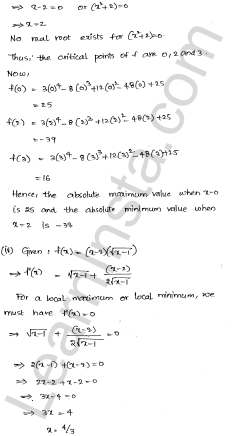 RD Sharma Class 12 Solutions Maxima and Minima Chapter 18 Ex 18.4 3
