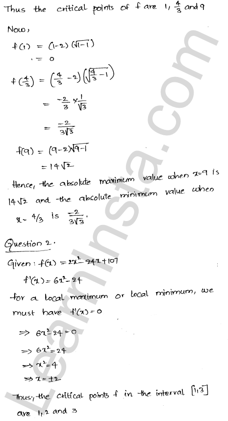 RD Sharma Class 12 Solutions Chapter 18 Maxima and Minima Ex 18.4 4