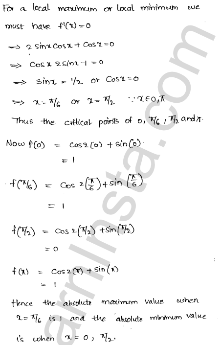 Solution of RD Sharma class 12 chapter 18 Maxima and Minima Ex 18.4 6