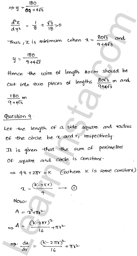 RD Sharma Solutions Class 12 Maxima and Minima Chapter 18 Ex 18.5 11
