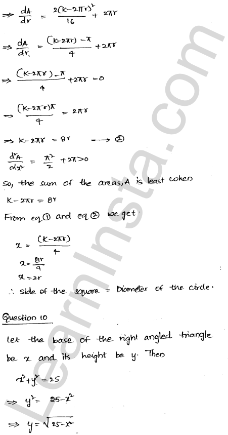 RD Sharma Solutions Class 12 Maxima and Minima Chapter 18 Ex 18.5 12