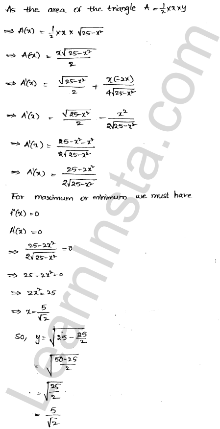 RD Sharma Solutions Class 12 Maxima and Minima Chapter 18 Ex 18.5 13