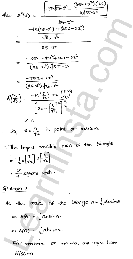 RD Sharma Solutions Class 12 Maxima and Minima Chapter 18 Ex 18.5 14