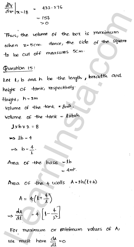 RD Sharma Class 12 Maths Solutions Chapter 18 Maxima and Minima Ex 18.5 18