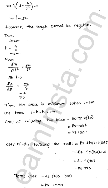 RD Sharma Class 12 Maths Solutions Chapter 18 Maxima and Minima Ex 18.5 19