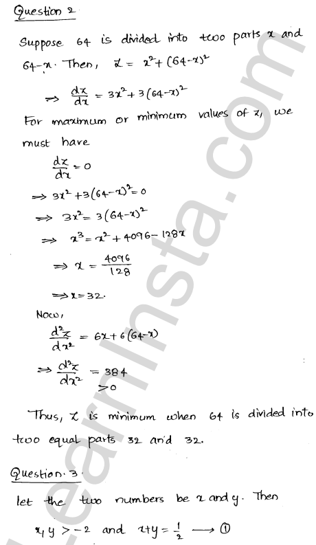 RD Sharma Class 12 Solutions Chapter 18 Maxima and Minima Ex 18.5 2