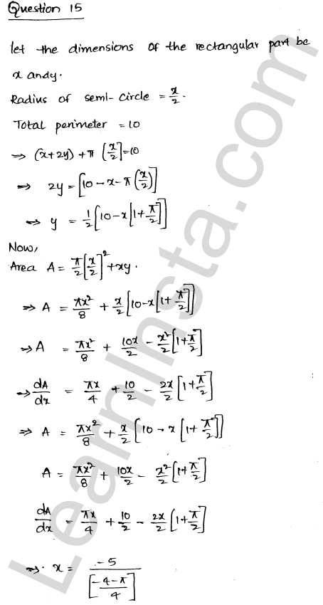 RD Sharma Class 12 Maths Solutions Chapter 18 Maxima and Minima Ex 18.5 20