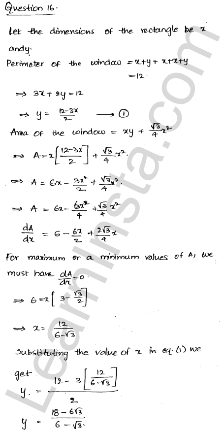 Solution of RD Sharma class 12 chapter 18 Maxima and Minima Ex 18.5 22