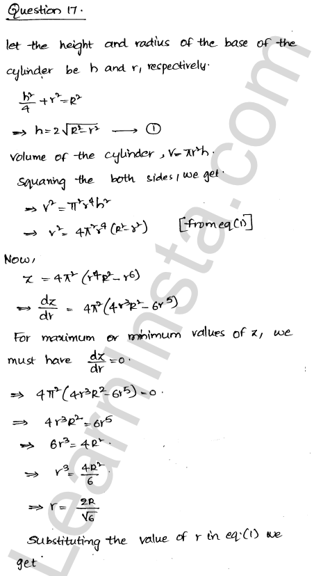 Solution of RD Sharma class 12 chapter 18 Maxima and Minima Ex 18.5 23
