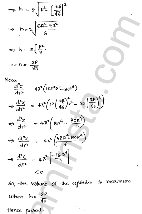 Solution of RD Sharma class 12 chapter 18 Maxima and Minima Ex 18.5 24