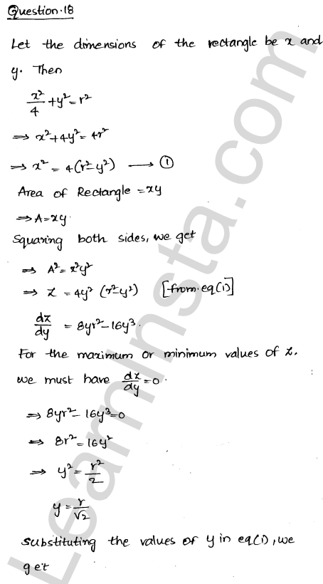 Solution of RD Sharma class 12 chapter 18 Maxima and Minima Ex 18.5 25