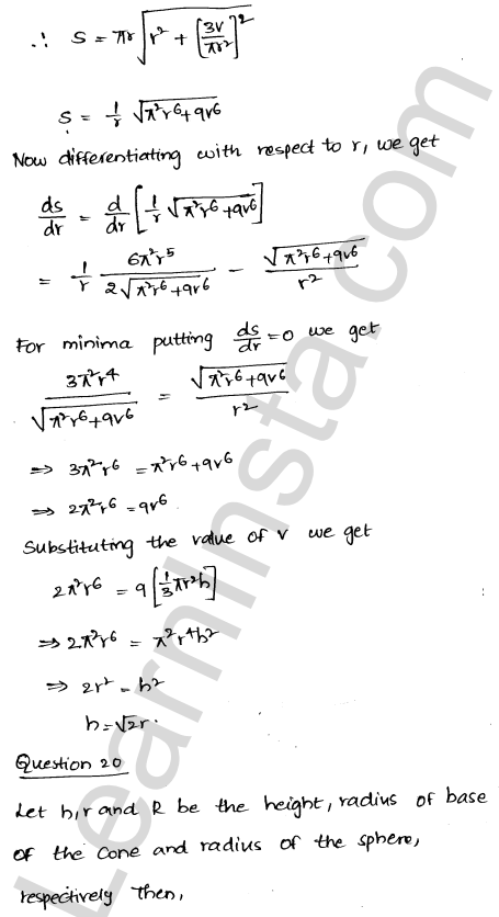Class 12 RD Sharma solutions chapter 18 Maxima and Minima Ex 18.5 27