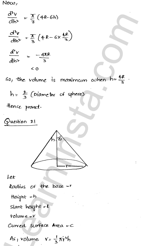 Class 12 RD Sharma solutions chapter 18 Maxima and Minima Ex 18.5 29