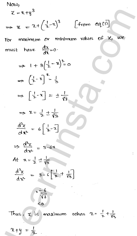RD Sharma Class 12 Solutions Chapter 18 Maxima and Minima Ex 18.5 3