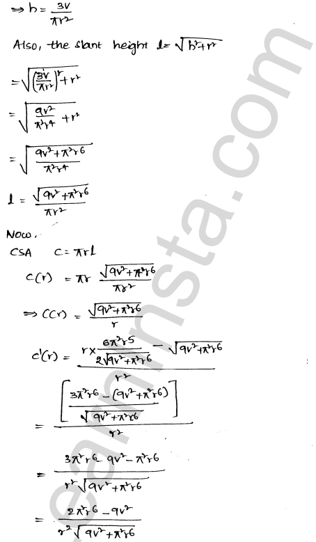 Class 12 RD Sharma solutions chapter 18 Maxima and Minima Ex 18.5 30