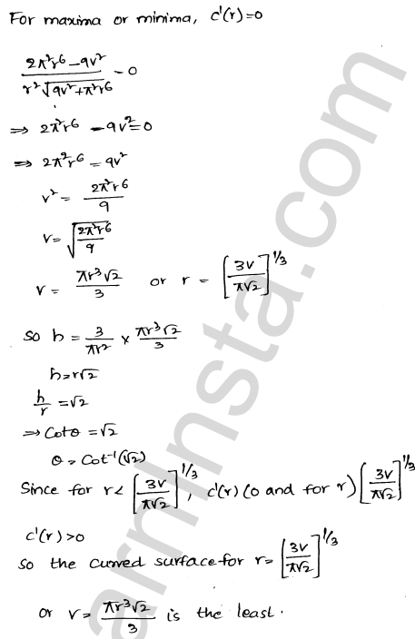 Class 12 RD Sharma maths solutions chapter 18 Maxima and Minima Ex 18.5 31