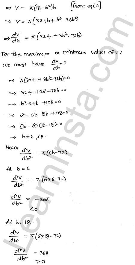 Class 12 RD Sharma maths solutions chapter 18 Maxima and Minima Ex 18.5 34
