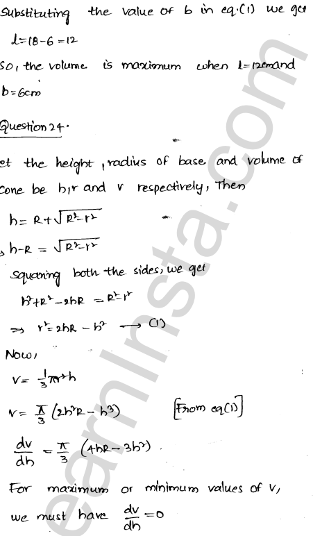 Class 12 RD Sharma maths solutions chapter 18 Maxima and Minima Ex 18.5 35