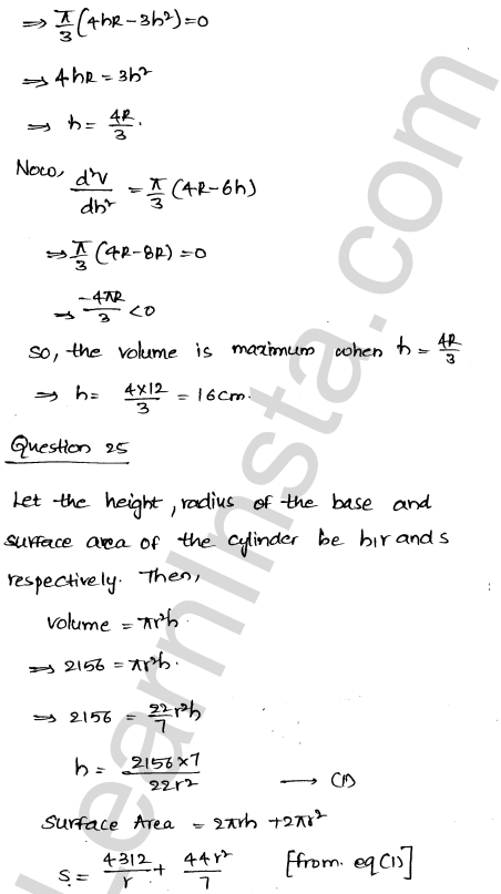 RD Sharma Class 12 Solutions Chapter 18 Maxima and Minima Ex 18.5 36