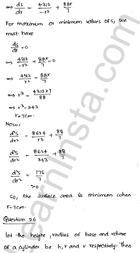 RD Sharma Class 12 Solutions Chapter 18 Maxima and Minima Ex 18.5 37