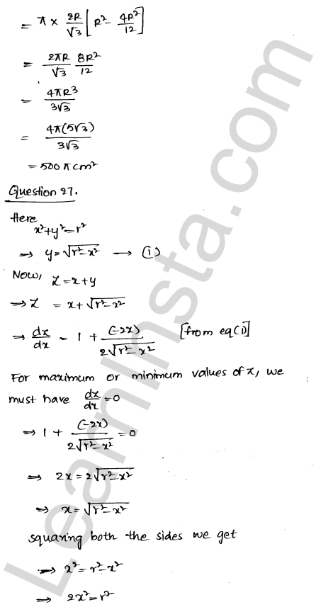 RD Sharma Class 12 Solutions Chapter 18 Maxima and Minima Ex 18.5 39