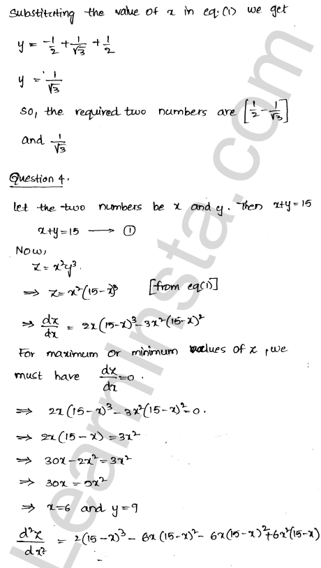 RD Sharma Class 12 Solutions Chapter 18 Maxima and Minima Ex 18.5 4