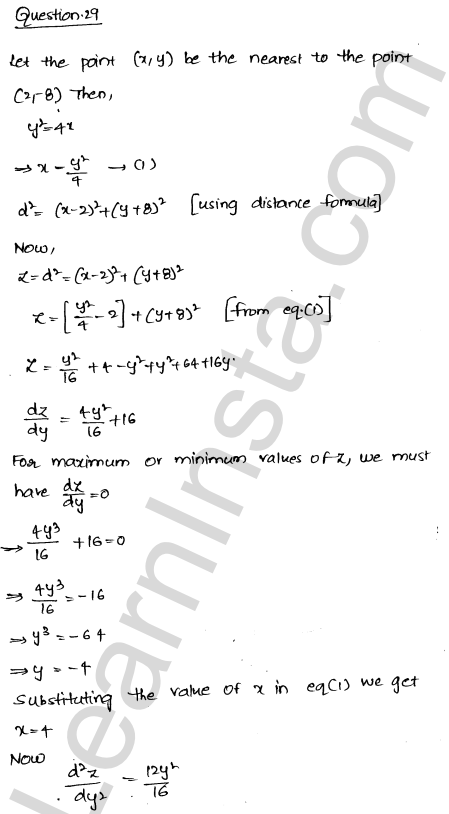 RD Sharma Class 12 Solutions Maxima and Minima Chapter 18 Ex 18.5 42