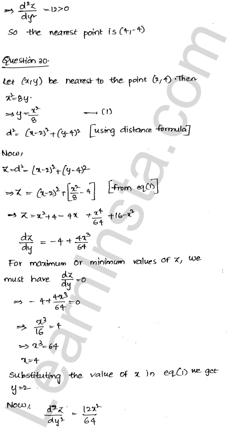 RD Sharma Class 12 Solutions Maxima and Minima Chapter 18 Ex 18.5 43