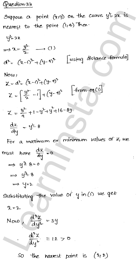 RD Sharma Class 12 Solutions Maxima and Minima Chapter 18 Ex 18.5 45