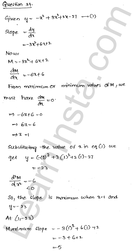 RD Sharma Solutions Class 12 Maxima and Minima Chapter 18 Ex 18.5 46