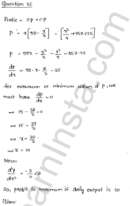 RD Sharma Solutions Class 12 Maxima and Minima Chapter 18 Ex 18.5 47