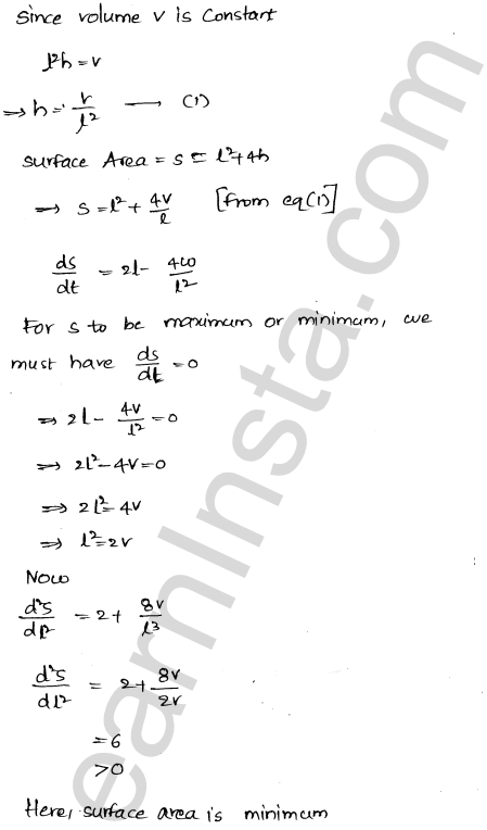 RD Sharma Solutions Class 12 Maxima and Minima Chapter 18 Ex 18.5 49