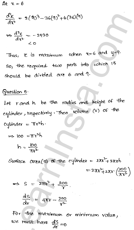 RD Sharma Class 12 Solutions Chapter 18 Maxima and Minima Ex 18.5 5