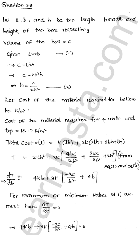 RD Sharma Solutions Class 12 Maxima and Minima Chapter 18 Ex 18.5 50