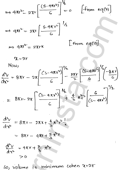 RD Sharma Class 12 Maths Solutions Chapter 18 Maxima and Minima Ex 18.5 53