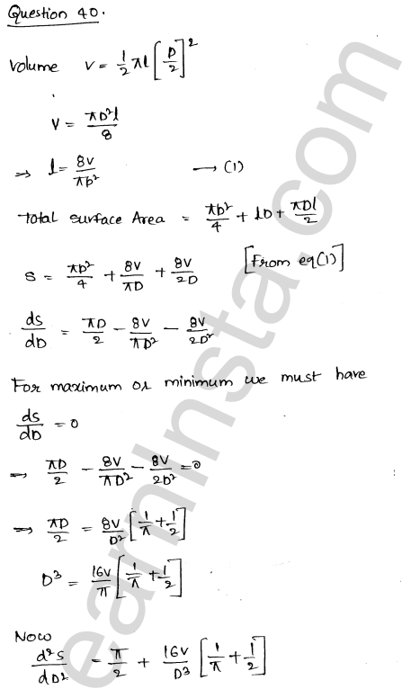 RD Sharma Class 12 Maths Solutions Chapter 18 Maxima and Minima Ex 18.5 54