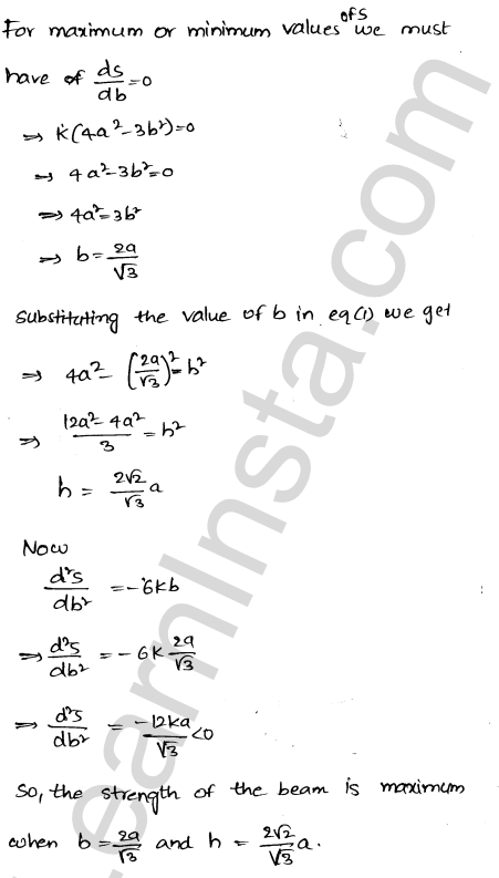 Solution of RD Sharma class 12 chapter 18 Maxima and Minima Ex 18.5 56