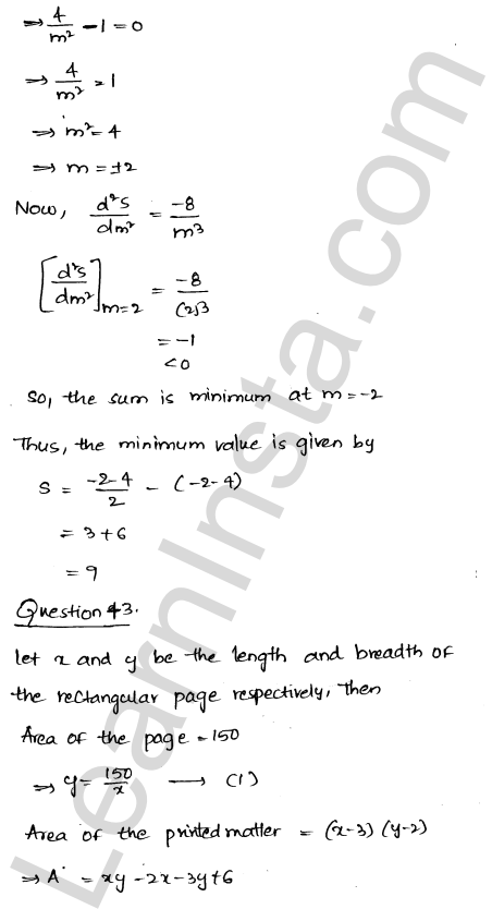 Solution of RD Sharma class 12 chapter 18 Maxima and Minima Ex 18.5 58
