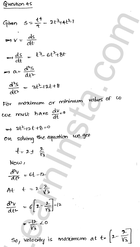 Class 12 RD Sharma solutions chapter 18 Maxima and Minima Ex 18.5 61