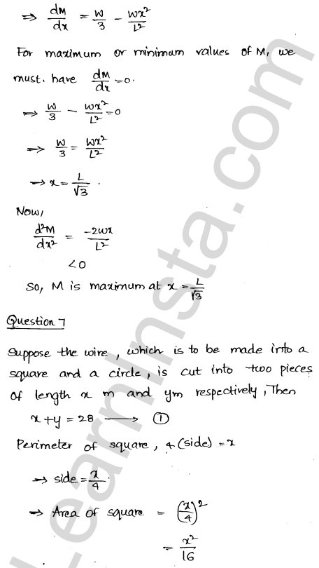 RD Sharma Class 12 Solutions Maxima and Minima Chapter 18 Ex 18.5 7