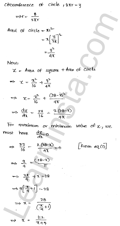 RD Sharma Class 12 Solutions Maxima and Minima Chapter 18 Ex 18.5 8