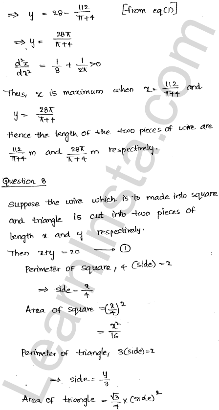 RD Sharma Class 12 Solutions Maxima and Minima Chapter 18 Ex 18.5 9