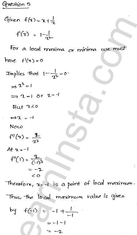 RD Sharma Solutions Class 12 Maxima and Minima Chapter 18 VSAQ 3