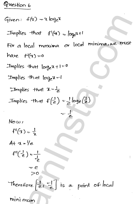RD Sharma Class 12 Maths Solutions Chapter 18 Maxima and Minima VSAQ 4