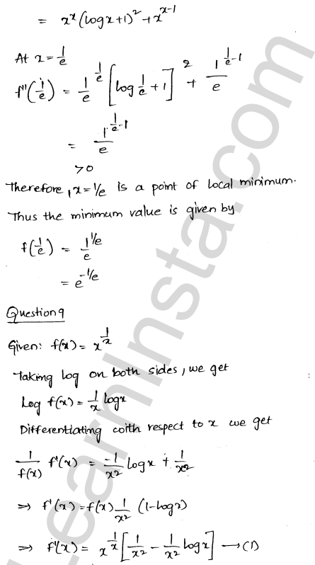 Class 12 RD Sharma maths solutions chapter 18 Maxima and Minima VSAQ 7