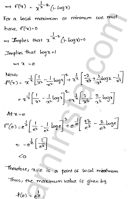 RD Sharma Class 12 Solutions Chapter 18 Maxima and Minima VSAQ 8