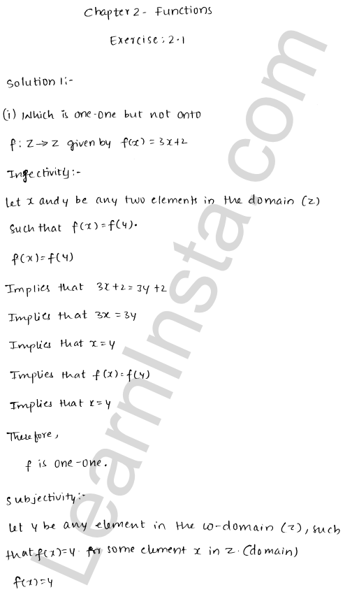 RD Sharma Class 12 Solutions Chapter 2 Functions Ex 2.1 1