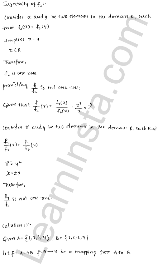 RD Sharma Class 12 Solutions Functions Chapter 2 Ex 2.1 40