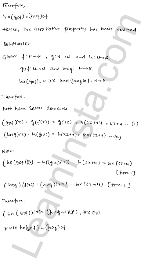 RD Sharma Class 12 Maths Solutions Chapter 2 Functions Ex 2.2 10