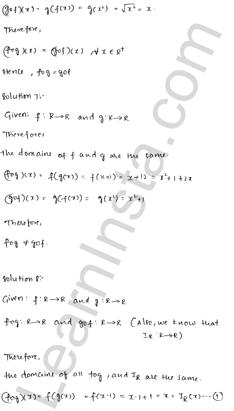 RD Sharma Solutions Class 12 Functions Chapter 2 Ex 2.2 8